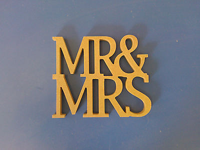 MR & MRS MDF WOODEN LETTERS FREESTANDING WEDDING GIFT